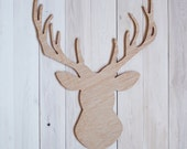 Decorative wood deer