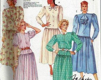 Misses Petite-Able Dropped waist Dress Pattern, McCall's 3331, Size 10-14 UNCUT