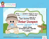 Fishing Baby Shower Invitations - Printed Baby Shower Invitations - Custom Invitations