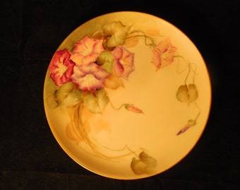 Antique Hand-painted Haviland Display Plate    p346