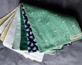 Nautical Baby Burp Cloths - Set of 4 - Green