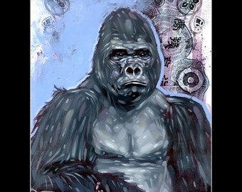 Paragon - Matted and Sleeved 12X18 Print - Gorilla - Jungle - ANIMAL