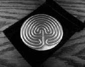 """3"""" Cretan Personal Labyrinth Handcrafted Pewter (DT-POC/R), meditation, spiritual, ancient sacred energy work gifts"""