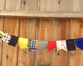 Multi-colored Scrappy Bunting // Back to School // Classroom Decor
