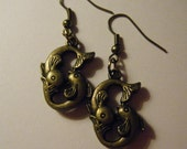 Bronze Pisces Fish Earrings