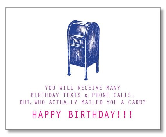 FUNNY Sweet HAPPY BIRTHDAY card Modern Birthday Card – Funny Birthday Cards for Teens