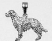 3D GOLDEN RETRIEVER Dog Charm in 925 Sterling Silver  25-12