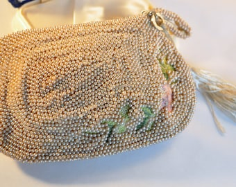 Vintage Glass Beaded and Embroidery Clutch  - Spectacular