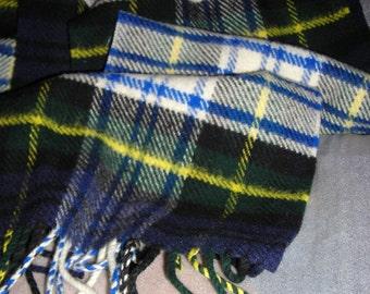 Vintage Scottish Plaid Scarf....Gordon Dress  Wool  Tartan Plaid....Lochcarron Woven In Scotland.....FL1