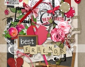 INSTANT DOWNLOAD ~ Best Friends ~ Digital Scrap Kit