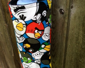 Water Bottle Carrier/Sling (Adjustable Strap)  Angry Birds Fabric, insulated
