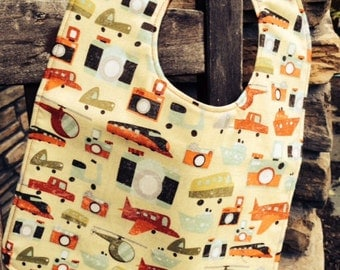 TODDLER BIB: Planes, Trains and Automobiles, Personalization Available