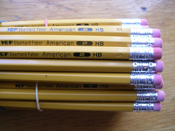 Eberhard Faber Pencil Co Vintage Real Wood By