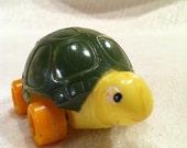 Cute Vintage Turtle on Wheels