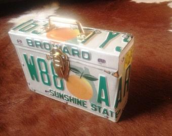 Florida License Plate Purse / Handbag / Clutch