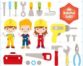 Engineer and Tools Clip Art ---- Personal and Small Commercial Use ---- BB 0851