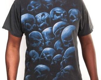 Blue Skulls Tshirt Size XLFREE SHIPPING IN U.S.A!