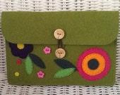 Oversized Wallet/Case - Flower Detail