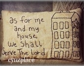 Saltbox House Scripture Pillow Tuck