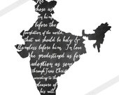 INSTANT DOWNLOAD India Adoption Art Print // Chalkboard / Verse // Christian Scripture Art Print // Ephesians 1
