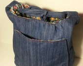 Denim Bucket Shaped Bag READY TO SHIP