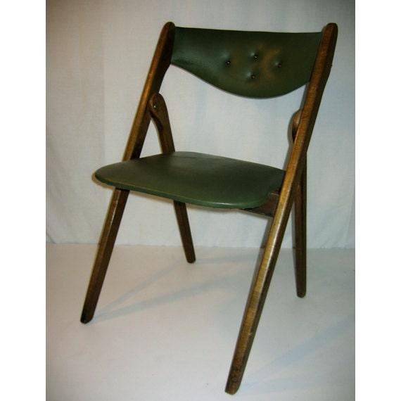 Vintage Mid Century Coronet Wonderfold Folding Chair