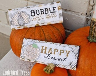 Printable Fall Candy Bar Wrappers - Instant download