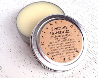 CUTICLE BUTTER - French Lavender All Natural Cuticle Butter - cuticle cream - lavender