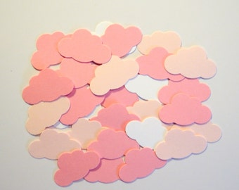 100 Dreamy Pink Clouds,Embellishment,Gender Reveal PartyConfetti,Cardmaking,Scrapbooking