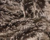 Frosted Minky Shag Dark Brown 58 Inch Fabric by the Yard, 1 yard