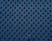Minky Snuggle Dot 08 Navy 60 Inch fabric by the yard, 1 yard