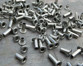 pkg of (100) - 3.5x3mm Stainless Steel Eyelets - fits 2mm hole