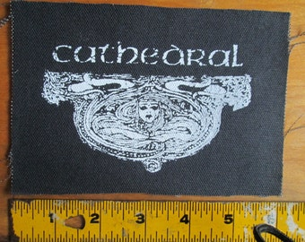 CATHEDRAL  Patch on Black Canvas