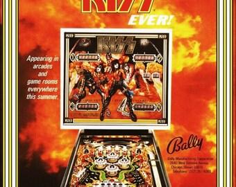 KISS / BALLY Pinball Stand-Up Display