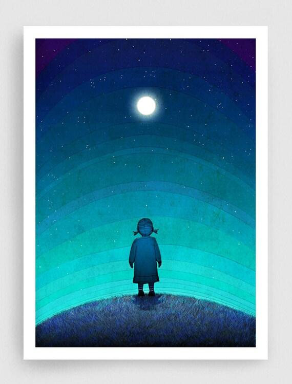 Illustration Moonlight Fine Art Illustration Fine Art