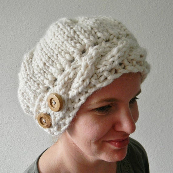 Knitting Patterns For Berets And Hats : Knitting Pattern Jenny Slouchy Knit Hat Pattern Slouchy