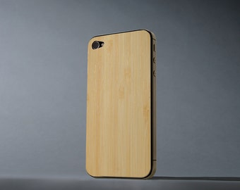 Natural Bamboo iPhone 4/4s Real Wood Skin - Made in the USA - FREE Shipping
