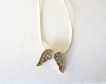Mini Angel Wings Necklace Charm Necklace