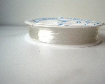 Clear Stretch Cord, .5mm Translucent Elastic String, Crystal Thread, Bracelet String, Stretc Cord, 5m Roll