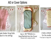 Cloth Diaper Zorb Insert ~ Trifold ~ Sized & Onesize Fits Most