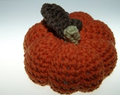 Rustic Orange Mini Jack Style Crochet Pumpkin, Home Decor, Fall Accent