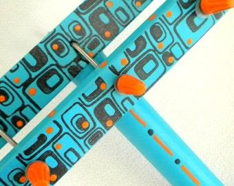 Twist-It kids craft kit   -  Retro style in Aqua