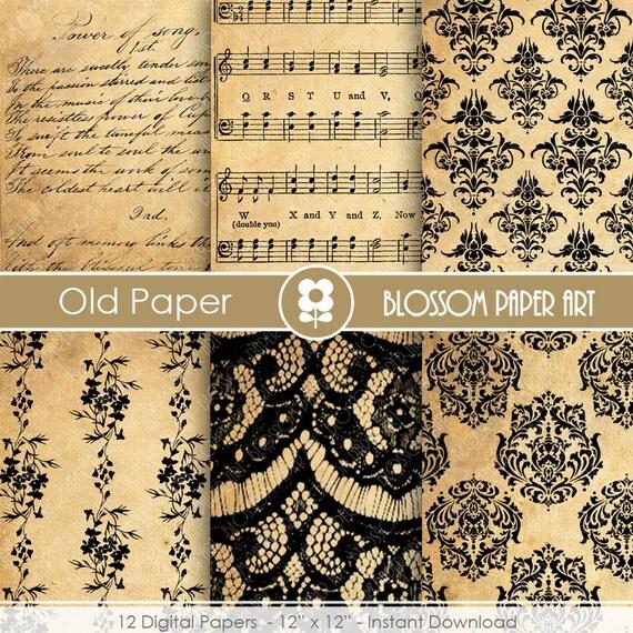 Papeles decorativos papel antiguo papeles decorativos - Papel decorado manualidades ...