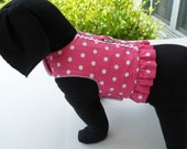 Seersucker hot pink polk-a-dots harness vest
