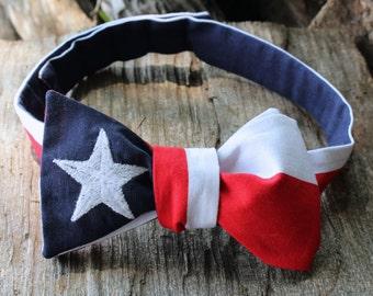Texas Flag Bow Tie (Adjustable & Self Tie)