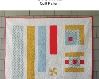SIGNAL - modern nautical quilt pattern  - lap/crib 46 x 46