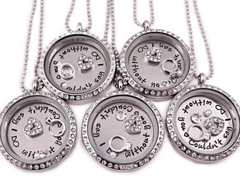 Personalized Bridesmaid Gift Set - Love Lockets - Wedding Party Gifts - Wedding Necklaces - Couldn't Say I DO Without You - Wedding - 1203