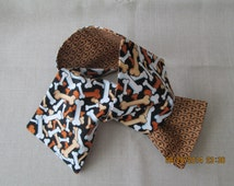Dog bone print scarf reversible