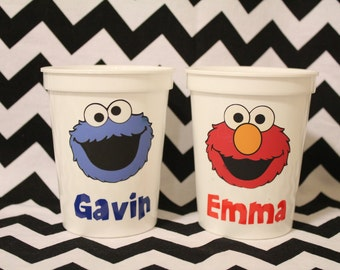 Personalized Sesame Street Cup