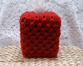 Crocheted Tissue Box Cover Cozy - Pick Your Color